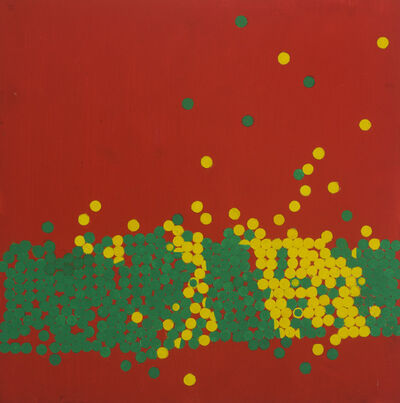 Wilhelmina Barns-Graham, 'Invasion III Lemon and Emerald on Scarlet', 1970