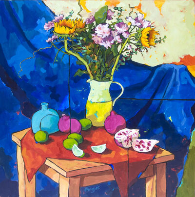 Angus Wilson, 'Sunflowers with Limes and Pomegranate', 2015