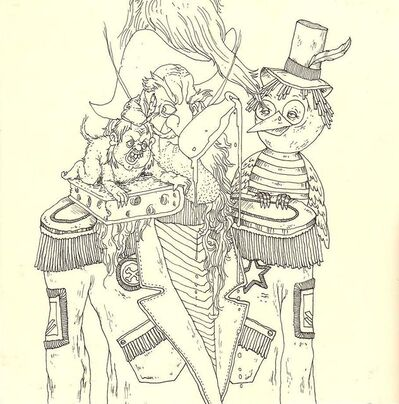 Okay Mountain, '7x7 Collaborative Drawing (#81)', 2011