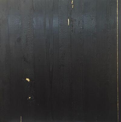 Miya Ando, 'Kintsugi (Repaired with Gold) Shou Sugi Ban (Charred Cedar Wood) 4.4.1', 2016