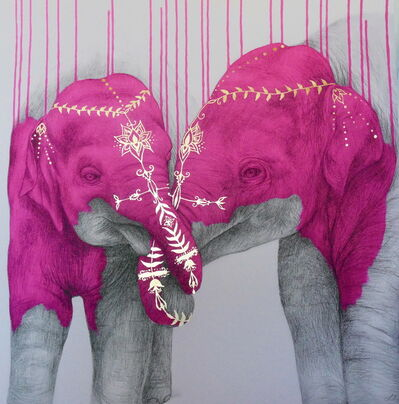 Louise McNaught, 'Soul Mates Pink', 2016