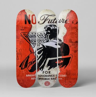 Shepard Fairey, 'No Future Skate Deck (Set of 3)', 2017