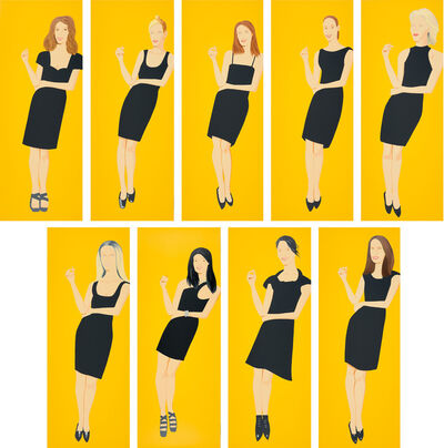 Alex Katz, 'Black Dress', 2015