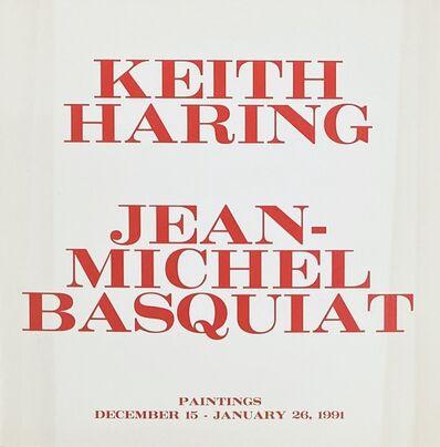 Jean-Michel Basquiat, ' Jean-Michel Basquiat, Keith Haring at Tony Shafrazi Gallery New York, 1991 (announcement)', 1990-1991