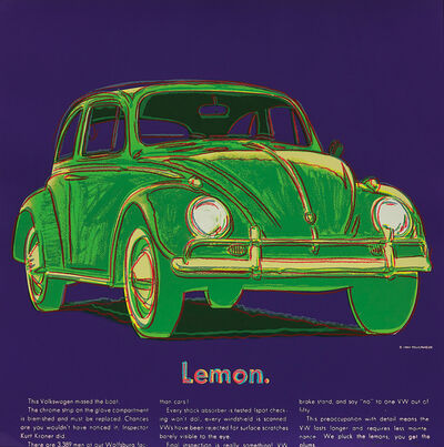Andy Warhol, 'Volkswagen from Ads F&S II.358', 1985
