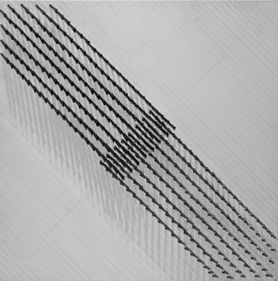 Günther Uecker, 'Diagonale Struktur IV', 1974