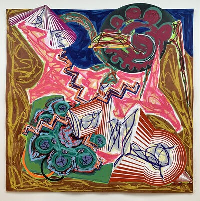 Frank Stella, 'Then came an ox and drank the water', 1986