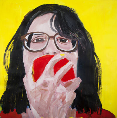 Gimena Herrera, 'Autorretrato comiendo manzana.', 2018