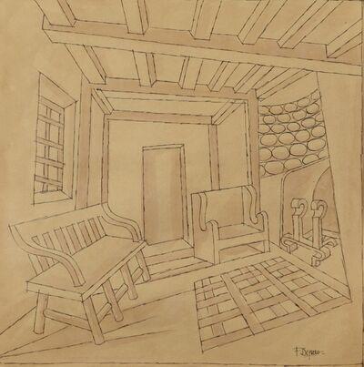 Fortunato Depero, 'Interno', ca 1940