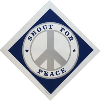 Robert Indiana, 'Shout for Peace (Blue/Silver)', 2014