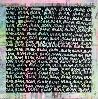 Mel Bochner, 'Blah Blah Blah + Background Noise #98', 2013