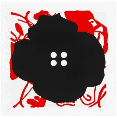 Donald Sultan, 'Button Flowers-Red', 2014