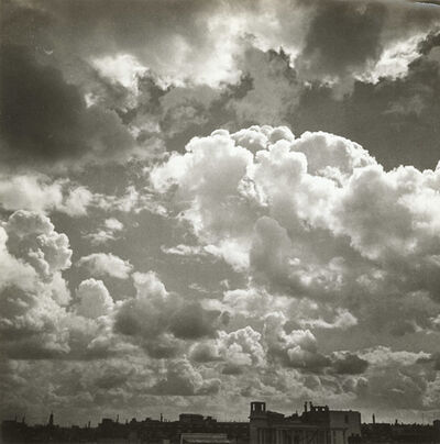 Emmanuel Sougez, 'Cloud Study with Cityscape', 1930s/1930s
