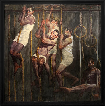 Mark Beard, '[Bruce Sargeant (1898-1938)] Five Gymnasts in Training', n.d.