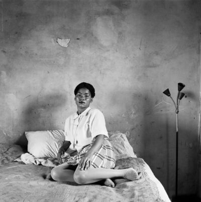 David Goldblatt, 'Mrs Miriam Diale in her bedroom, 5357 Orlando East, Soweto', 1972
