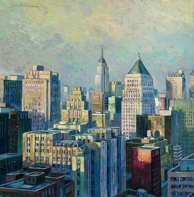 Juan del Pozo, 'Manhattan Afternoon I - modern cityscape painting', 2020