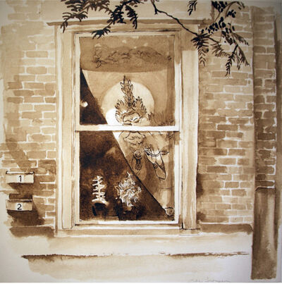 Alice Thompson, 'Girard Avenue Windows (Study)'