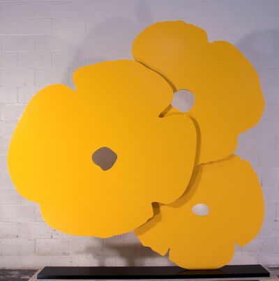Donald Sultan, 'Big Yellow Poppies', 2015