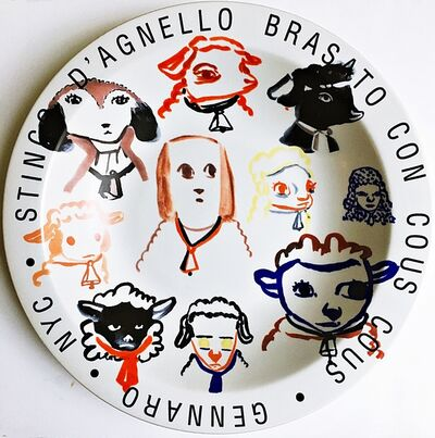 Amy Sillman, 'Stinco D'Agnello Brasato Con Cous Cous - Gennaro - New York City', 2001