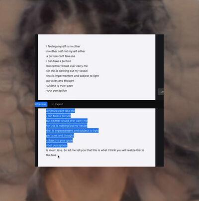 Cibelle Cavalli Bastos, 'A Picture Can't Take Me', 2020