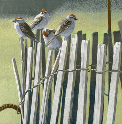 Sherrie York, 'Four on the Fence 4/20'