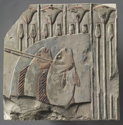 Egypt, Thebes, Late Period, late Dynasty 25 to early Dynasty 26, 'Spearing Fish', c. 667-647 BC