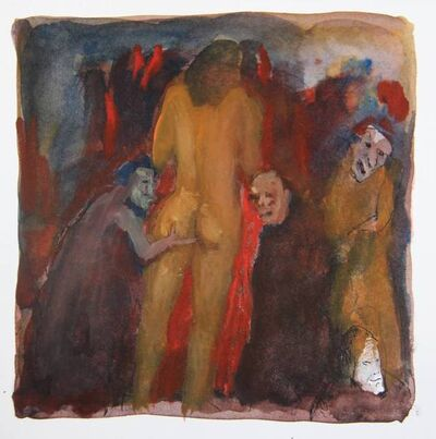Tasaduq Sohail, 'Untitled (men groping woman)', Undated