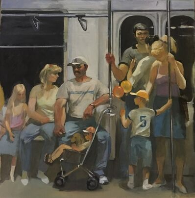 Leonid Gervits, 'New York Subway, 4th of July', 2001
