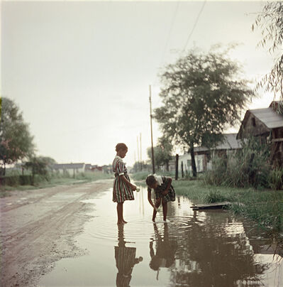 Gordon Parks, 'Untitled, Alabama (Two Girls in Puddle 37.066)', 1956