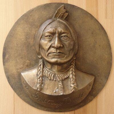 Gilbert Poillerat, 'Sitting Bull', XXth century