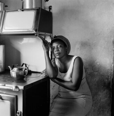 David Goldblatt, 'Patience Poni visiting her parents Ruth and Jackson Poni, 1510A Emdeni South, Soweto', 1972