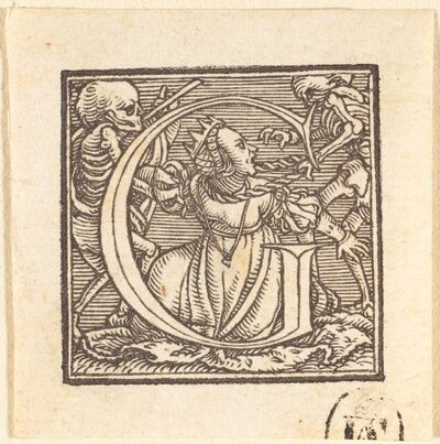 Hans Holbein the Younger, 'Letter G'