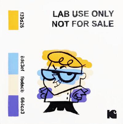 "Kar-Part, '""Lab Us Only""  aerosol on wood', 2020"