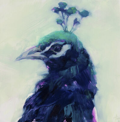 Angie Renfro, 'Peacock Portrait', 2016