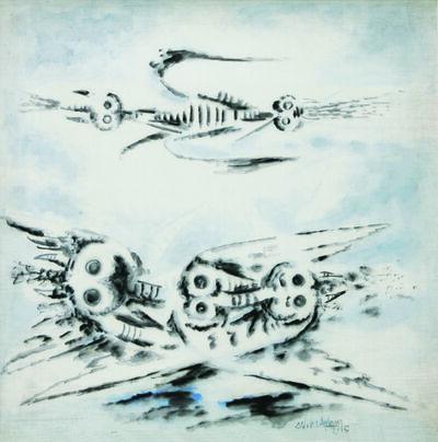 Wifredo Lam, 'Butinantes [Saque Adoras] [Les Saccageurs]', 1945