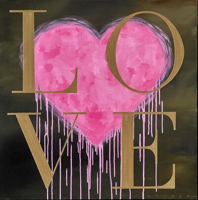 Robert Deyber, 'LOVE - Pink & Gold', 2016