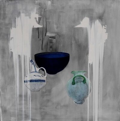 Christina Penrose, 'Ancient Vessels in grey & white', 2017