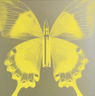 Rubem Robierb, 'Butterfly I (Yellow on Silver )', 2016