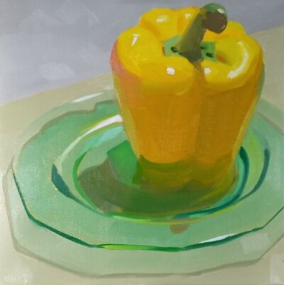 Yuri Tayshete, 'Yellow Pepper on a Green Plate', 2020