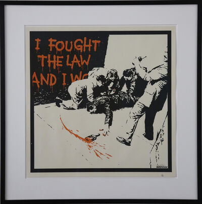Banksy, 'I Fought The Law signed', 2004