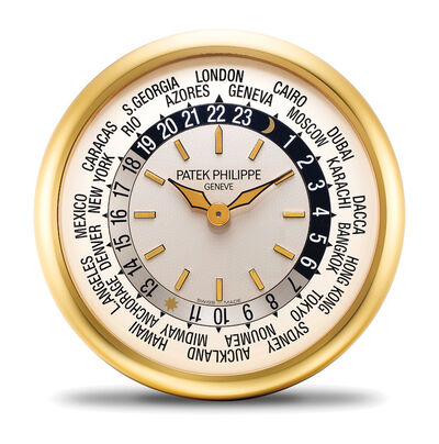Patek Philippe, 'An attractive brass world time wall clock with Instruction Manual', Circa 2000s