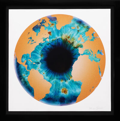 Marc Quinn, ''Iris' with Diamond Dust, Turquoise/Gold', 2020