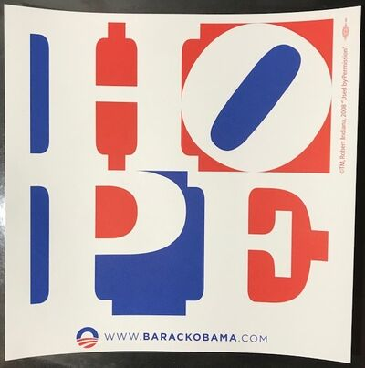 "Robert Indiana, '""HOPE""  Barack Obama Campaign ', 2008"