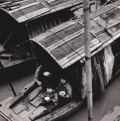 Agnès Varda, 'Canton (Chine), repas de famille au village flottant', 1957