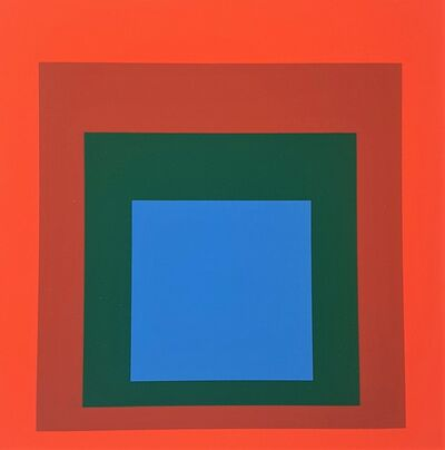 "Josef Albers, 'Homage to the Square: Blue + Darkgreen with 2 Reds (from ""Albers"")', 1971"