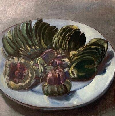 Guy de Malherbe, 'Reliefs d'un repas d'artichauts', 2019