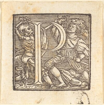 Hans Holbein the Younger, 'Letter P'