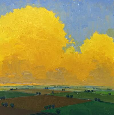 John Karl Claes, 'Yellow Evening Square'