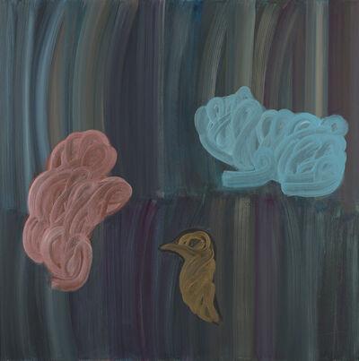 Ömer Uluҫ, 'A Figure, a Bird, a Dog', 1994