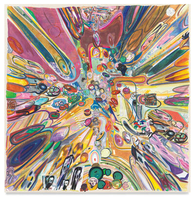 Franklin Evans, 'pigmentpolymersplatspace', 2021